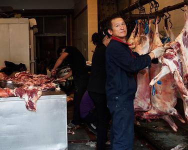 Butcher's shop, Xihuamen Dajie, Muslim Quarter, Xian