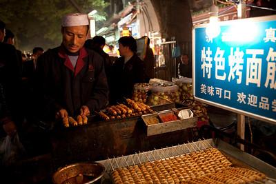 Hui Food Vendor, Beiyuanmen, Muslim Quarter, Xian