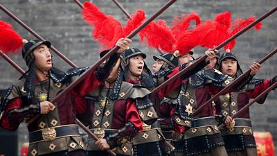 Guards, City Wall, Xian