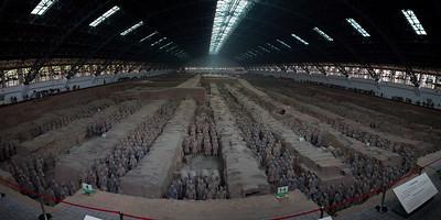 Terracotta Warriors, Pit 1, Longtin County, Shaanxi  14 shot hand-held panorama