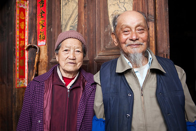 The Village Elder Dong Cheng Han and his wife Zhang Maoying  Natural light