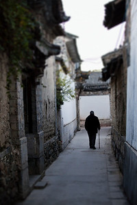 Old Man in Alley, Xizhou
