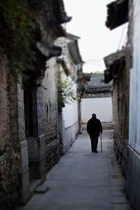 Old Man in Alley, Xizhou