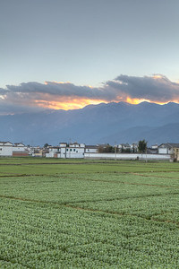Sunset over Changshan, Xizhou  HDR from 3 exposures