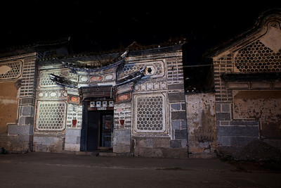 Xizhou Architecture by moon and torch light