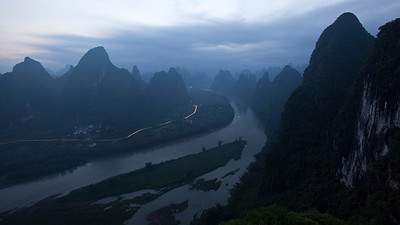 Dawnbreak at Xingping, Li River  Another pre-dawn shot  5 minute exposure