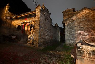 Night Village, Yulong Valley, Juxian, Guangxi