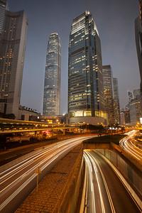 Central at Blue Hour, Hong Kong