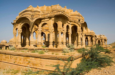 Maharajas cenotaphs (tombs) outside Jaisalmer.