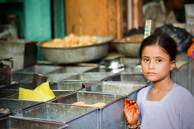 Girl on a spice stall