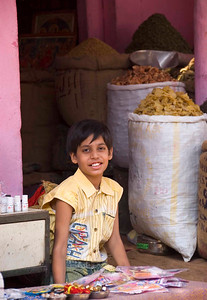 Girl in Bikaner market.