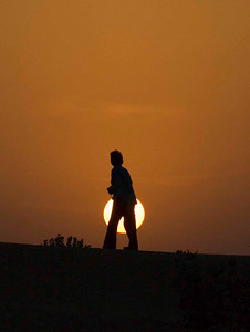 Sunrise in the Thar desert.