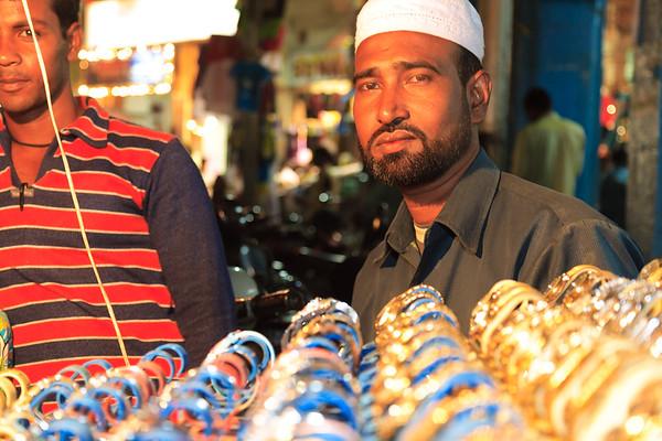 08IB455 Andhra Pradesh Hyderabad India Market Watch Stall