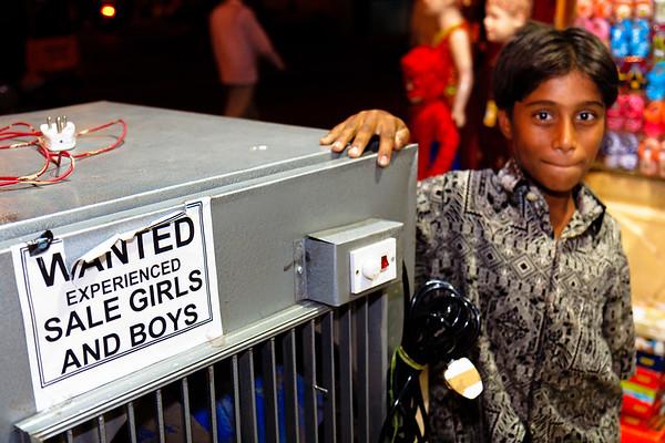 08IB457 Andhra Pradesh Hyderabad India Kids Night Torso