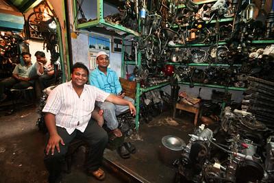 Click here to buy at Alamy. Keywords: Car Parts India Mechanics Motor Market Old Delhi MyID: 06IP101