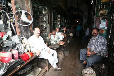 Click here to buy at Alamy. Keywords: Car Parts India Mechanics Motor Market Old Delhi MyID: 06IP100