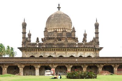 08IB146 Bijapur Ibrahim Rauza Tomb India Islam Karnataka