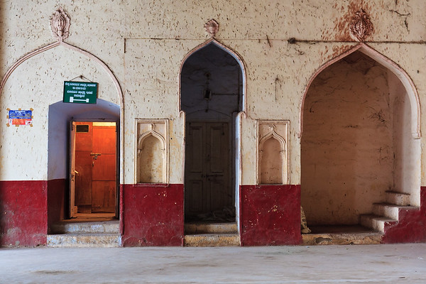 08IB173 Bijapur Doorway India Islam Karnataka Mosque