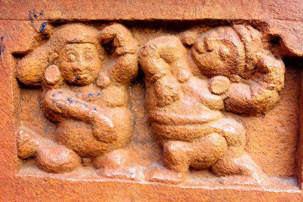 08IB215 Badami Buddhism India Karnataka Faith Statue