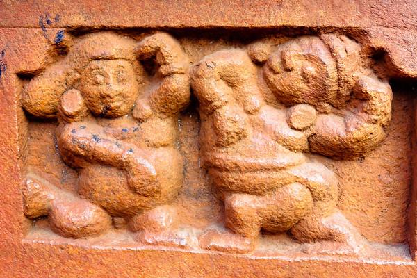 08IB215 Badami Buddhism India Karnataka Faith Statue