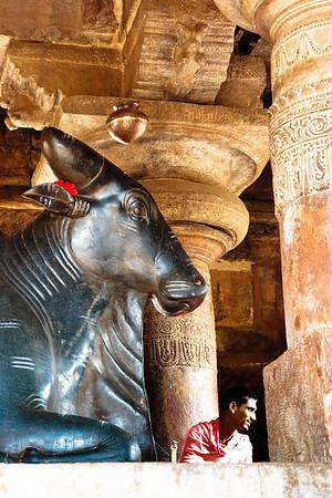 08IB294 Hindu India Karnataka Nandi Pattadakal Priest
