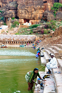 08IB210 Badami Historical Sites India Karnataka Street