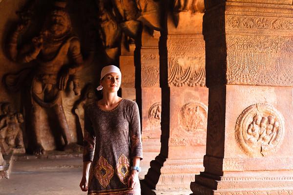 08IB214 Badami Buddhism India Karnataka Faith