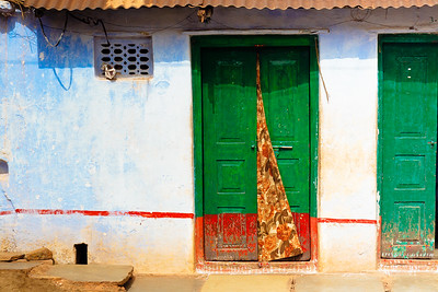 08IB511 Bidar Blue Green India Karnataka Street