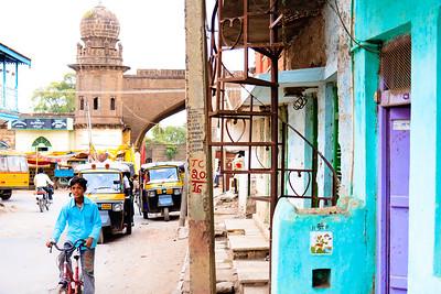 08IB163 Bijapur Blue India Islam Karnataka Faith Tomb