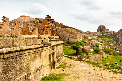08IB354 Chitradurga Fort India Karnataka Temple