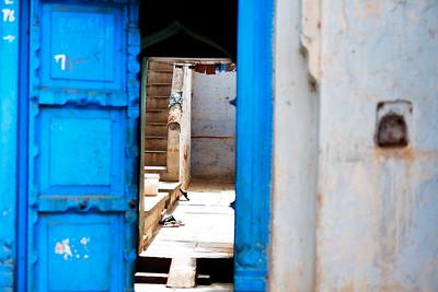 08IB515 Bidar Blues Geometry India Karnataka Streets