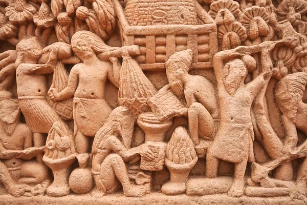Click here to buy at Alamy. Keywords: Stupa Buddhism India Madhya Pradesh Sanchi Temple MyID: 06IP264