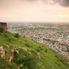 06IP457 India Jaipur Light Plains Rajasthan Sunset