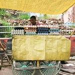 06IP381 Bundi Butcher India Market Meat Rajasthan Yellow