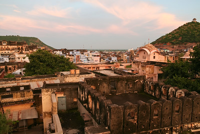 Click here to buy at Alamy. Keywords: Building Bundi India Palace Plain Rajasthan Sunset MyID: 06IP340