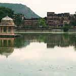 Click here to buy at Alamy. Keywords: Chhattri India Lake Rajasthan Sunset Water MyID: 06IP390