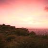 06IP459 India Jaipur Pinks Plains Rajasthan Sunset