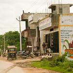 06IP396 Autorickshaw Bijaipur India Painting Rajasthan
