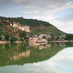 Click here to buy at Alamy. Keywords: Building India Lake Palace Rajasthan Sunset Water MyID: 06IP388