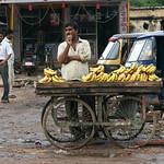 06IP382 Banana Bundi Fruit India Market Rajasthan