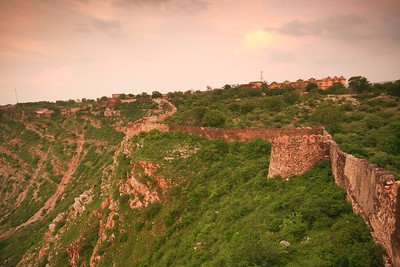 06IP458 India Jaipur Light Plains Rajasthan Sunset