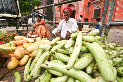 Click here to buy at Alamy. Keywords: Vegetables Fruits India Jaipur Market Rajasthan MyID: 06IP445