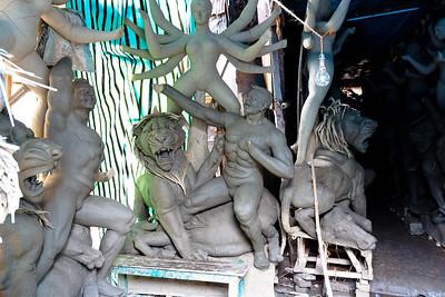 08IB551 Hindu India Kolkata Kumartuli Statue West Bengal
