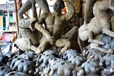 08IB556 Hindu India Kolkata Kumartuli Statue West Bengal
