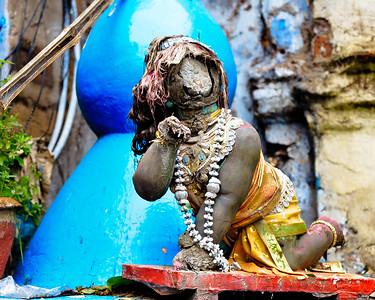 08IB550 Hindu India Kolkata Kumartuli Statue West Bengal