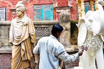 08IB554 Hindu India Kolkata Kumartuli Statue West Bengal