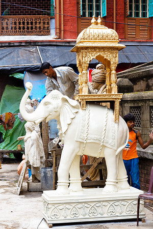 08IB553 Hindu India Kolkata Kumartuli Statue West Bengal