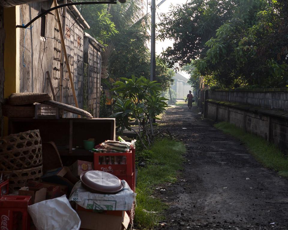 Woman in the Alley at Dawn, Lotunduh, Bali