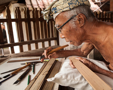 Traditional Letter Writer, Tenganan, East Bali