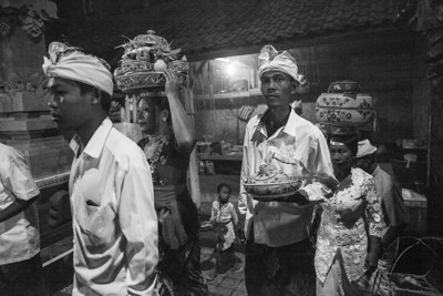Village Worshippers, Petulu, Bali